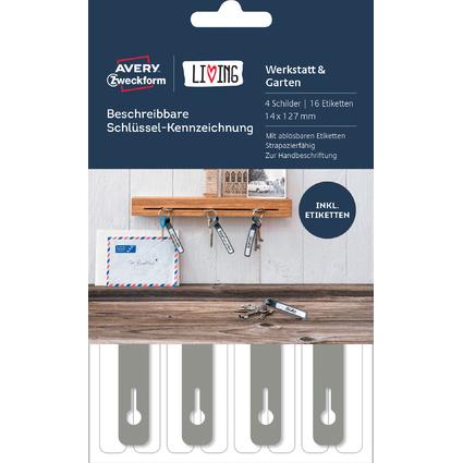AVERY Zweckform LIVING Schlüsselanhänger, 14 x 127 mm