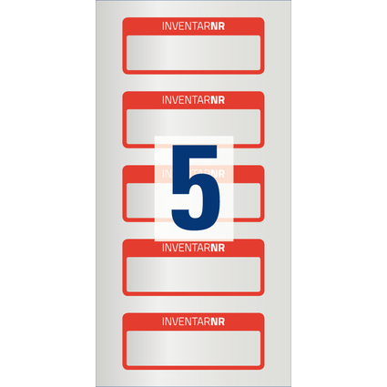 AVERY Zweckform Inventar-Etiketten, Polyester-Folie, rot