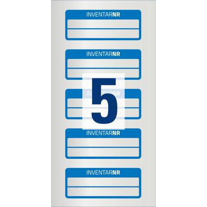 AVERY Zweckform Inventar-Etiketten, Polyester-Folie, blau