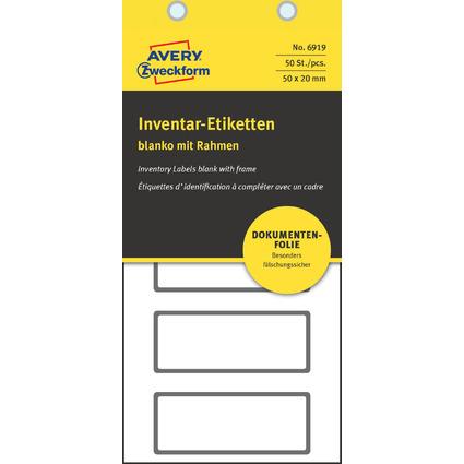 AVERY Zweckform Inventar-Etiketten, abziehsicher, blanko