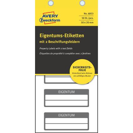 AVERY Zweckform Eigentums-Etiketten, 50 x 20 mm, schwarz