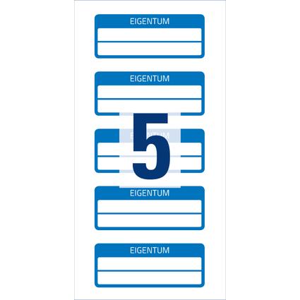 AVERY Zweckform Eigentums-Etiketten, 50 x 20 mm, blau