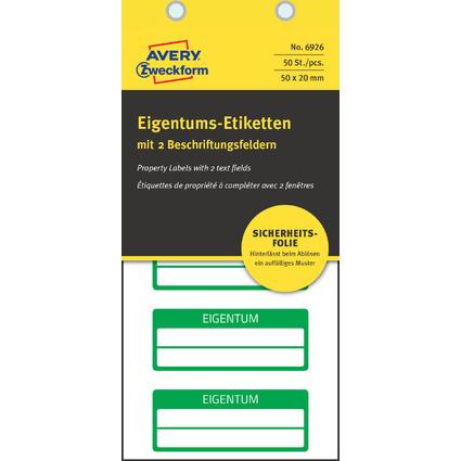 AVERY Zweckform Eigentums-Etiketten, 50 x 20 mm, grün
