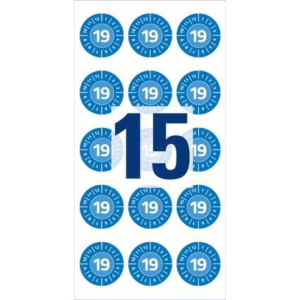 AVERY Zweckform Prüfplaketten, 2019, Durchmesser: 20mm, blau