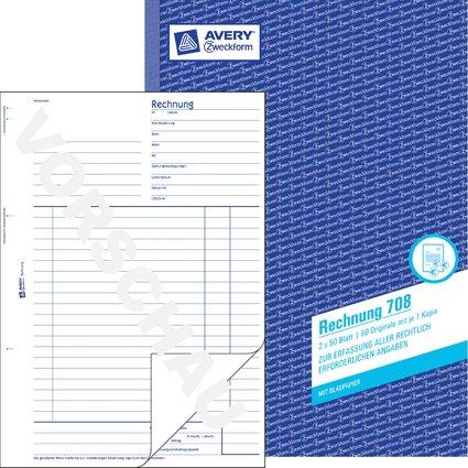"AVERY Zweckform Formularbuch ""Rechnung"", A4, 2 x 50 Blatt"