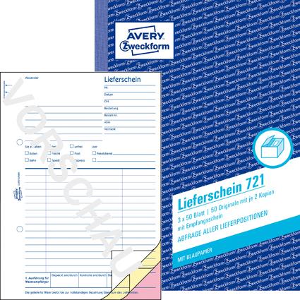 """AVERY Zweckform Formularbuch """"Liefer-/Empfangsschein"""", A5"""