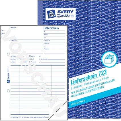 """AVERY Zweckform Formularbuch """"Lieferschein"""", 2 x 50 Blatt"""