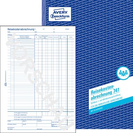 """AVERY Zweckform Formularbuch """"Reisekostenabrechnung"""", A4"""