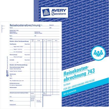 """AVERY Zweckform Formularbuch """"Reisekostenabrechnung"""", A5"""