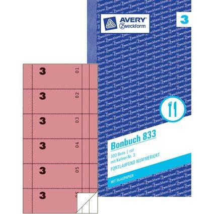 """AVERY Zweckform Formularbuch """"Bonbuch"""", 105 x 198 mm, pink"""
