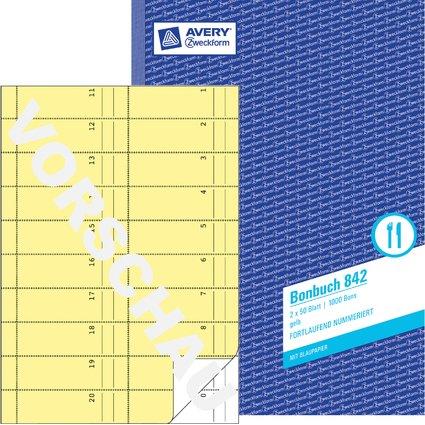 """AVERY Zweckform formularbuch """"Bonbuch"""", A4, gelb"""