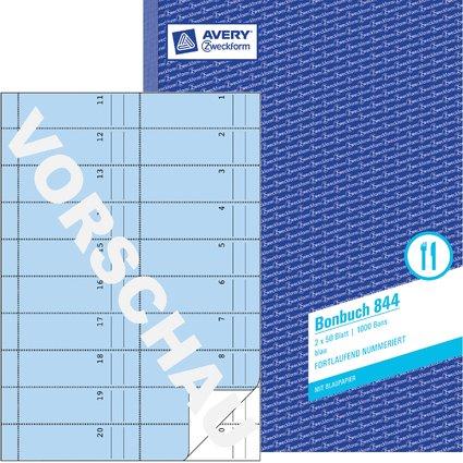 """AVERY Zweckform Formularbuch """"Bonbuch"""", blau, A4"""