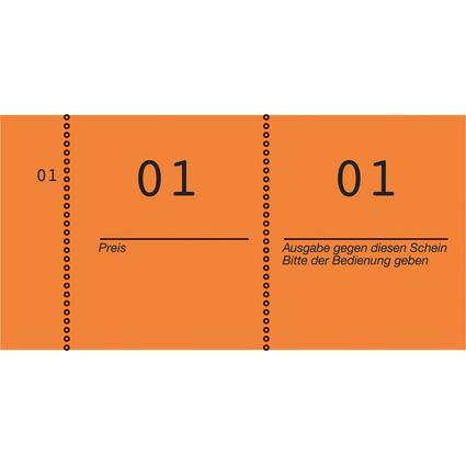 AVERY Zweckform Nummernblock 1 - 1000, 105 x 53 mm, orange