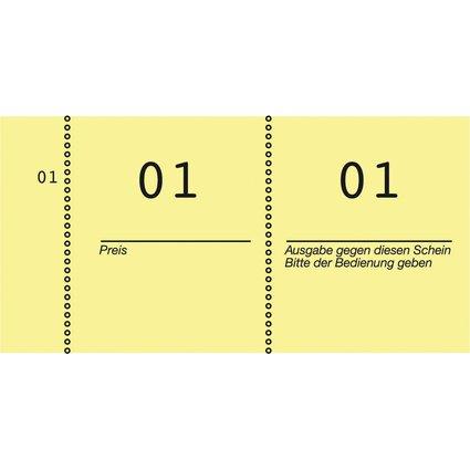 AVERY Zweckform Nummernblock 1 - 1000, 105 x 53 mm, gelb