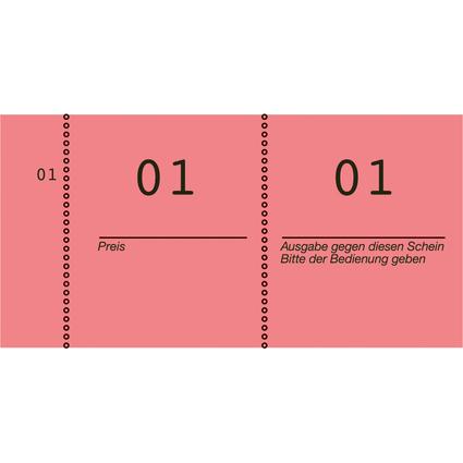 AVERY Zweckform Nummernblock 1 - 1000, 105 x 53 mm, rot