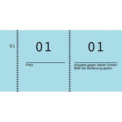 AVERY Zweckform Nummernblock 1 - 1000, 105 x 53 mm, blau