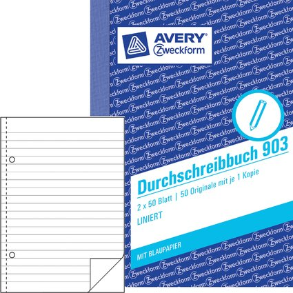 """AVERY Zweckform Formularbuch """"Durchschreibbuch"""", A6"""