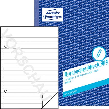 """AVERY Zweckform Formularbuch """"Durchschreibbuch"""", A5, liniert"""