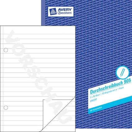 """AVERY Zweckform Formularbuch """"Durchschreibbuch"""", A4, liniert"""