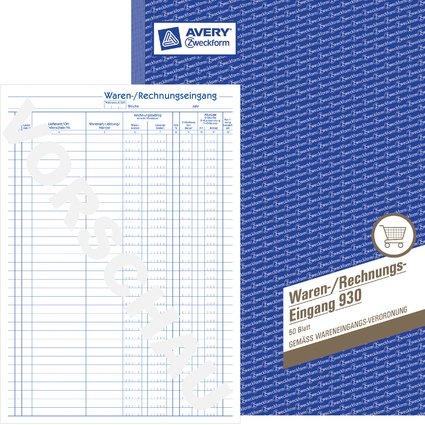 """AVERY Zweckform Formularbuch """"Waren-/Rechnungseingangsbuch"""""""