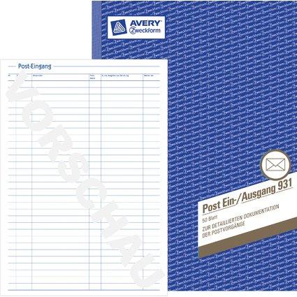 """AVERY Zweckform Formularbuch """"Posteingangs-/Ausgangsbuch"""",A4"""