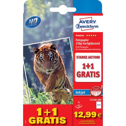 AVERY Zweckform Premium Inkjet-Fotopapier, A6, 80 Blatt