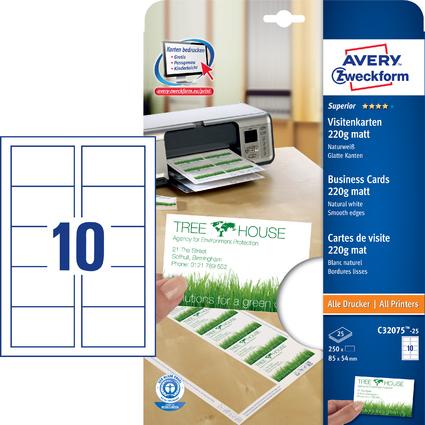 AVERY Zweckform Quick & Clean Recycling-Visitenkarten