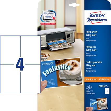 AVERY Zweckform Postkarten, 170 g/qm, (B)148 x (H)105 mm
