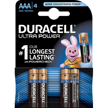 """DURACELL Alkaline Batterie """"ULTRA POWER"""" Micro, 4er Blister"""