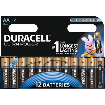 "DURACELL Alkaline Batterie ""ULTRA POWER"" Mignon, 12er"