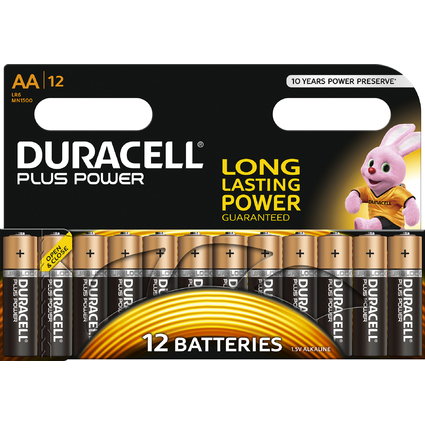 "DURACELL Alkaline Batterie ""PLUS POWER"", Mignon AA, 12er"