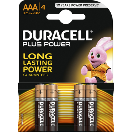 "DURACELL Alkaline Batterie ""PLUS POWER"", Micro AAA, 4er"