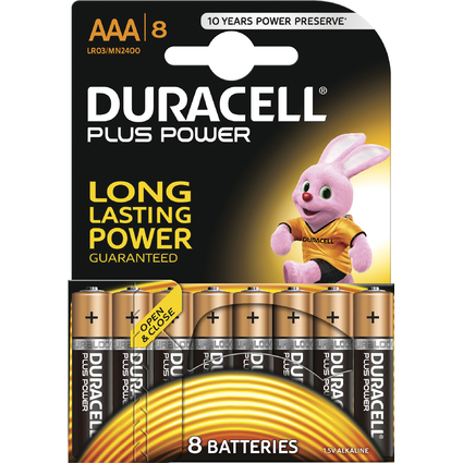 "DURACELL Alkaline Batterie ""PLUS POWER"", Micro AAA, 8er"