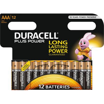 "DURACELL Alkaline Batterie ""PLUS POWER"", Micro AAA, 12er"
