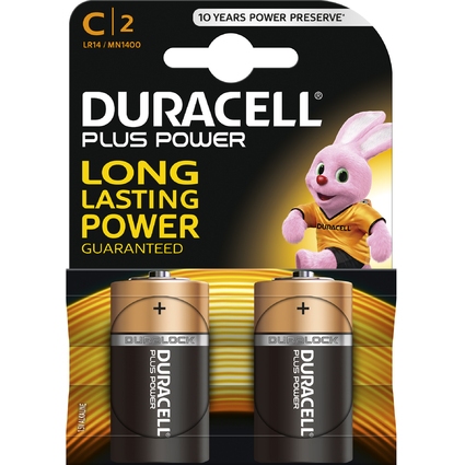 "DURACELL Alkaline Batterie ""PLUS POWER"", Baby C, 2er Blister"