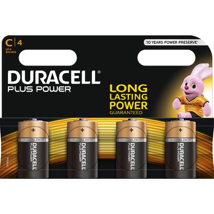 """DURACELL Alkaline Batterie """"PLUS POWER"""", Baby C, 4er Blister"""