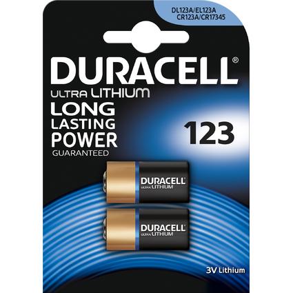 """DURACELL Foto-Batterie """"ULTRA"""", Lithium, 123, 2er Blister"""