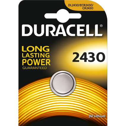 "DURACELL Lithium Knopfzelle ""Electronics"", 2430, 1er Blister"