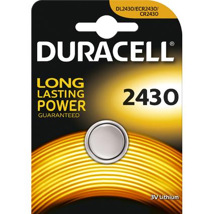 "DURACELL Lithium Knopfzelle ""Electronics"", 2430, 1er Blister"