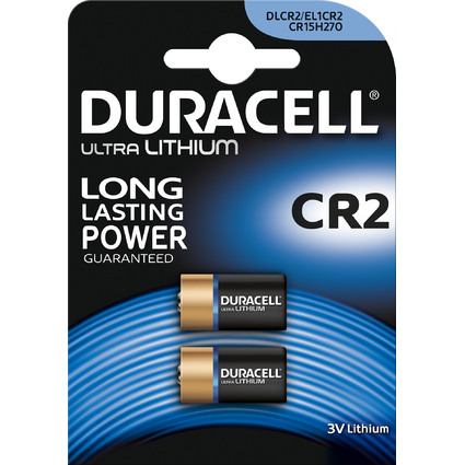 "DURACELL Foto-Batterie ""ULTRA"", Lithium, CR2, 2er Blister"