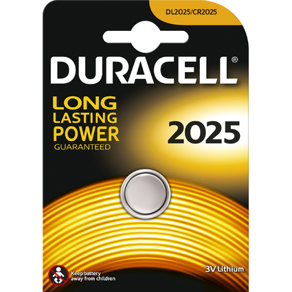 "DURACELL Lithium Knopfzelle ""Electronics"", 2025, 1er Blister"