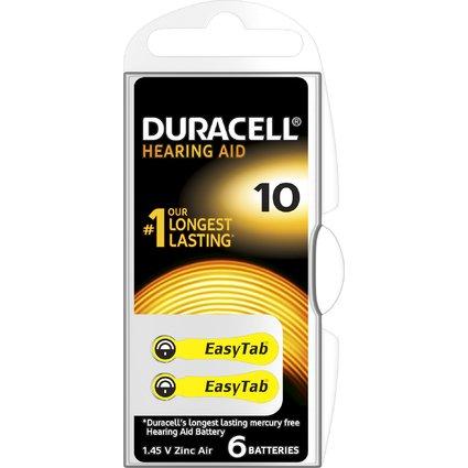 DURACELL Hörgeräte Knopfzelle EasyTab 10, Zink-Luft Batterie