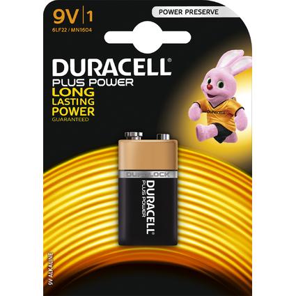 """DURACELL Alkaline Batterie """"PLUS POWER"""", E-Block 9V, 1er"""