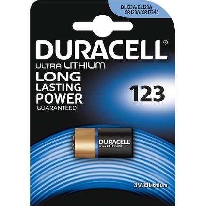 """DURACELL Foto-Batterie """"ULTRA"""", Lithium, 123, 1er Blister"""
