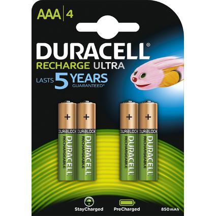 DURACELL Akku PreCharged Micro AAA, 4er Blister