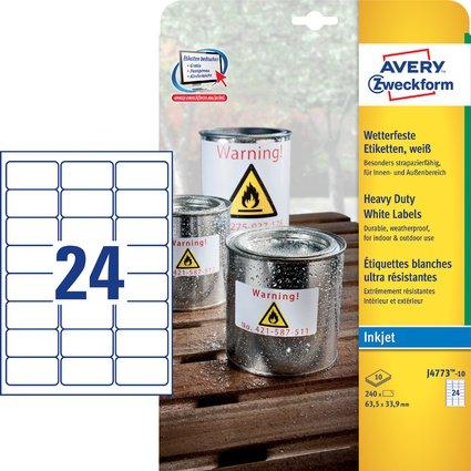 AVERY Zweckform Folien-Etiketten, wetterfest, 63,5 x 33,9 mm