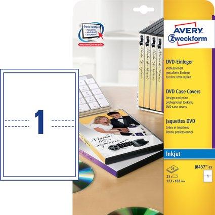 AVERY Zweckform DVD Einleger, 273 x 183 mm, 200 g/qm, weiß