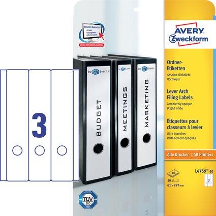AVERY Zweckform Ordnerrücken-Etiketten, 61 x 297 mm, 10 Bl.