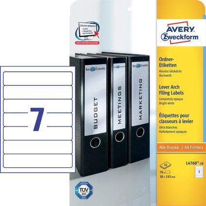 AVERY Zweckform Ordnerrücken-Etiketten, 38 x 192 mm, 10 Bl.