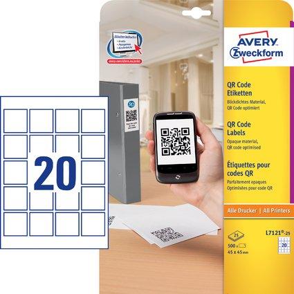 AVERY Zweckform QR Code Etiketten, 45 x 45 mm, quadratisch